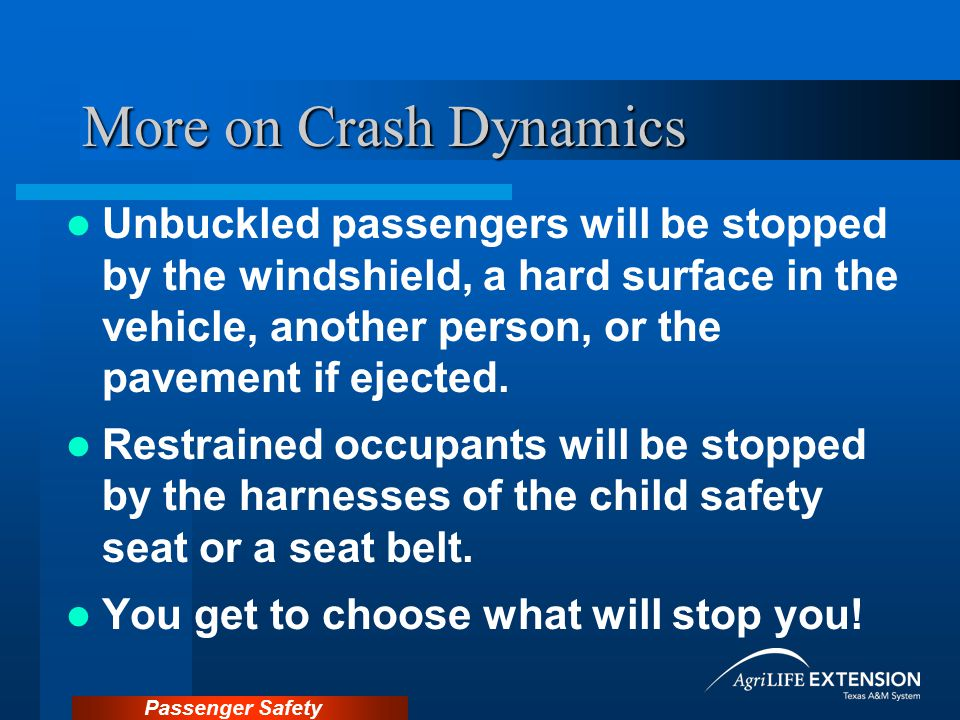 More on Crash Dynamics