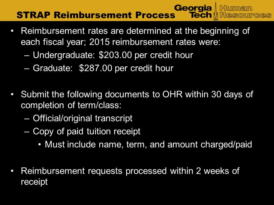 STRAP Reimbursement Process