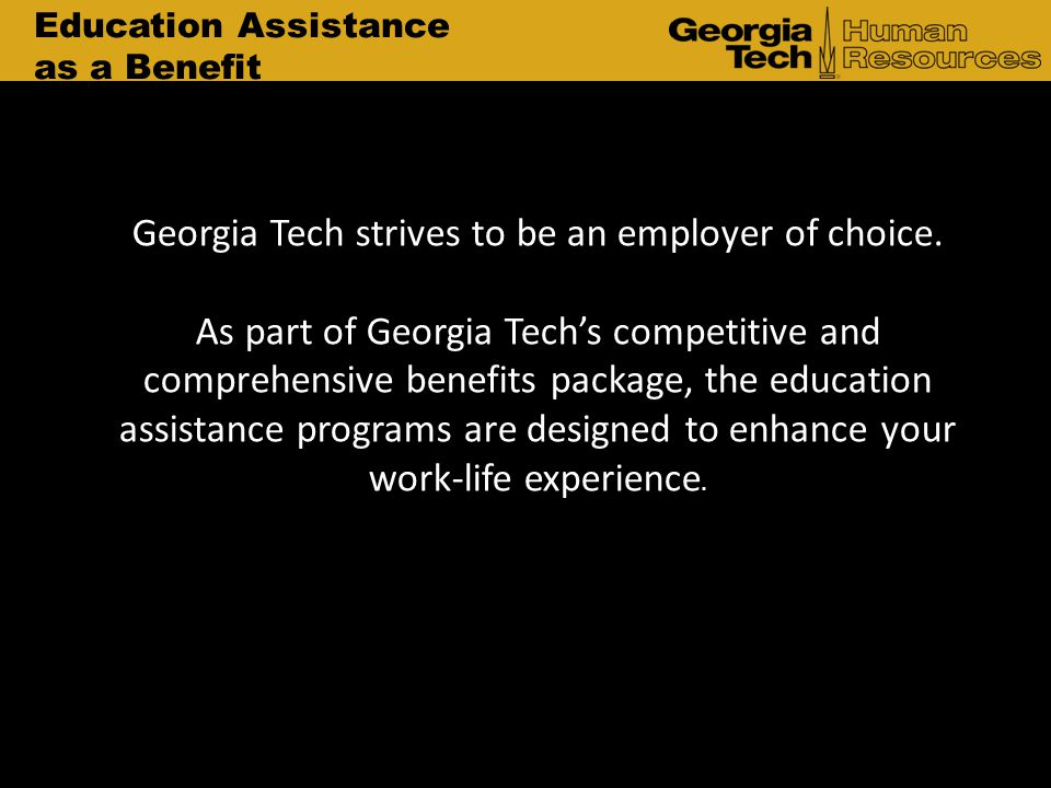 Georgia Tech strives to be an employer of choice.