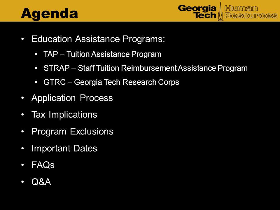 Agenda Education Assistance Programs: Application Process