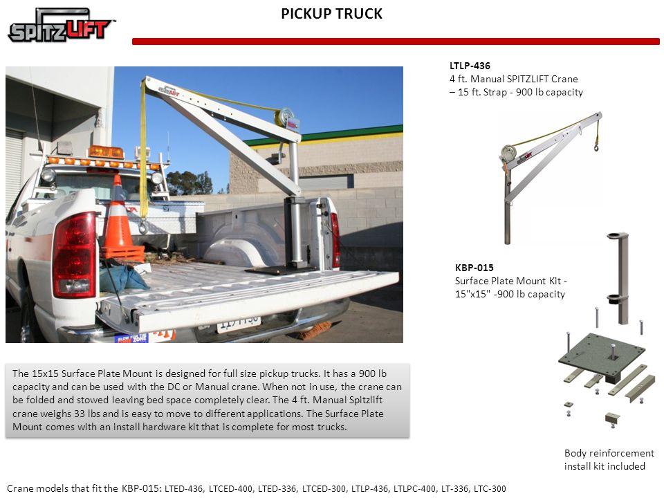 PICKUP TRUCK LTLP-436 4 ft. Manual SPITZLIFT Crane