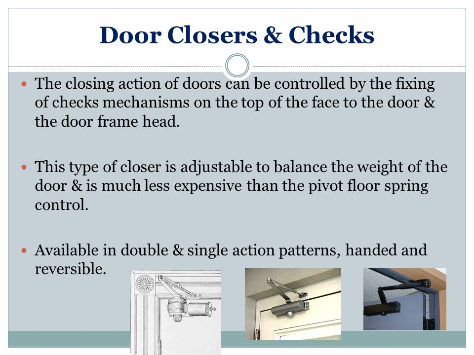 Door Closers & Checks