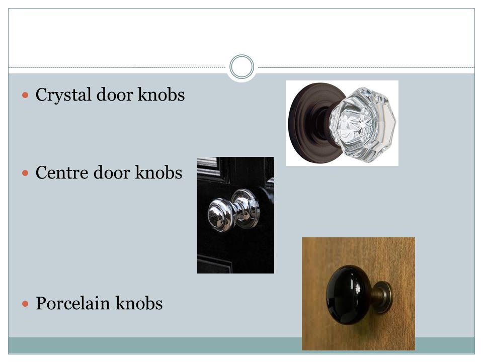 Crystal door knobs Centre door knobs Porcelain knobs