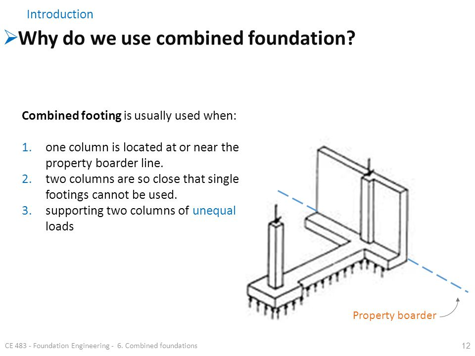 Why do we use combined foundation