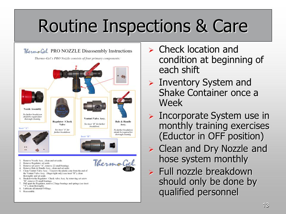 Routine Inspections & Care