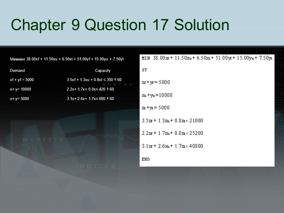 Chapter 9 Question 17 Solution