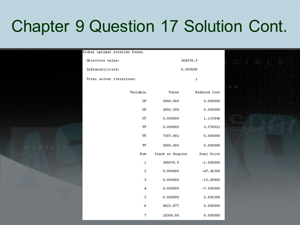 Chapter 9 Question 17 Solution Cont.