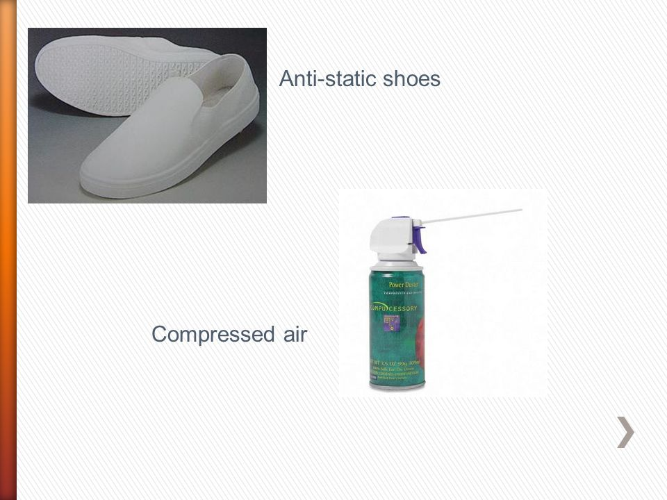 Anti-static shoes Compressed air