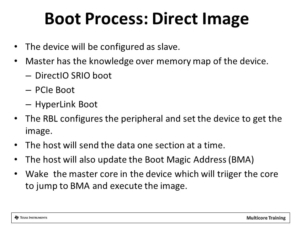 Boot Process: Direct Image