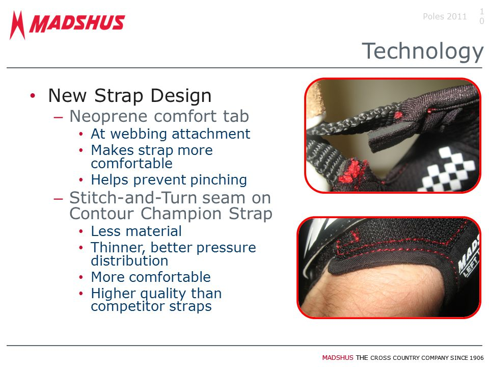 Technology New Strap Design Neoprene comfort tab