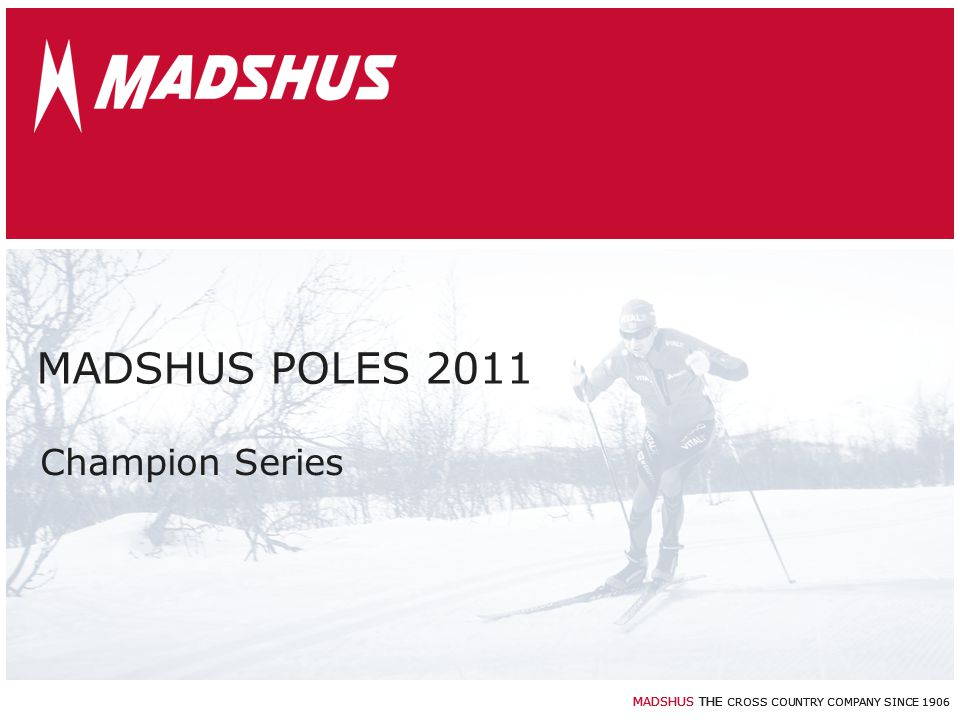MADSHUS POLES 2011 Champion Series