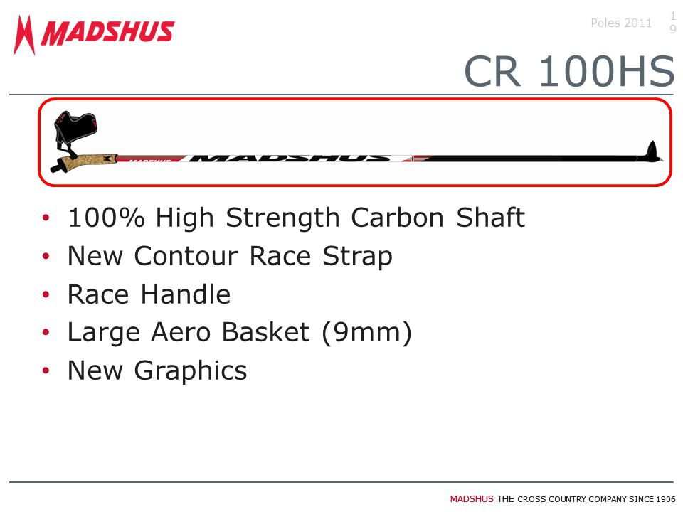 CR 100HS 100% High Strength Carbon Shaft New Contour Race Strap