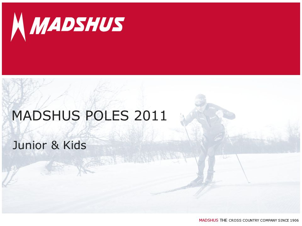 MADSHUS POLES 2011 Junior & Kids