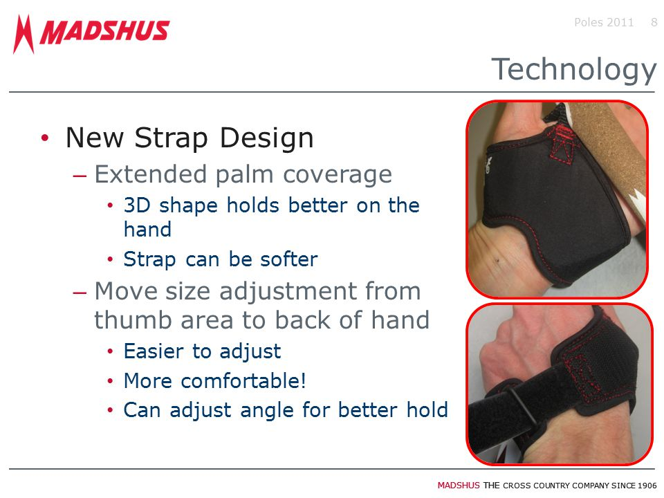 Technology New Strap Design Extended palm coverage