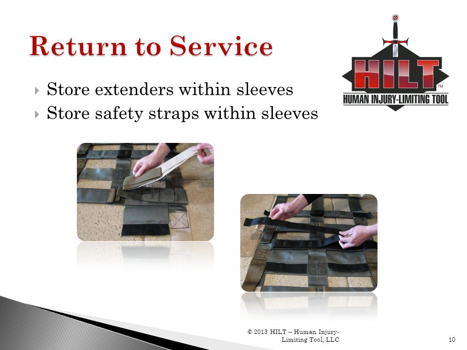 Return to Service Store extenders within sleeves