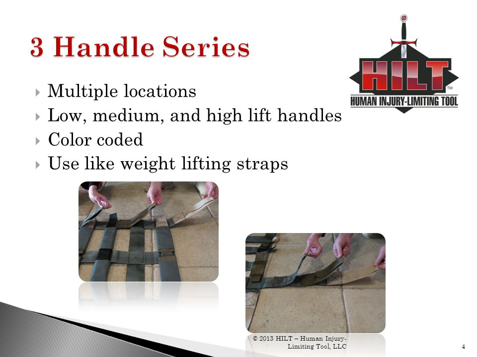 3 Handle Series Multiple locations Low, medium, and high lift handles