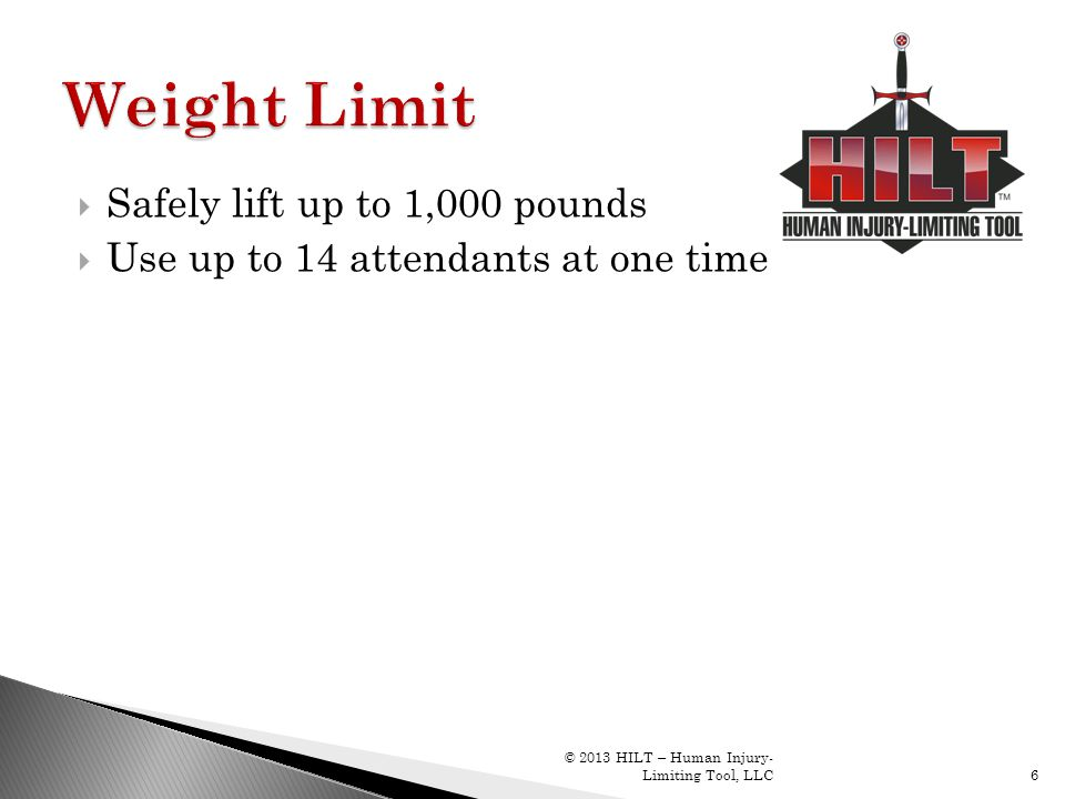 Weight Limit Safely lift up to 1,000 pounds