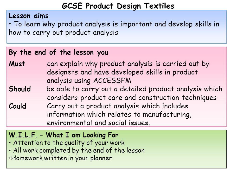 GCSE Product Design Textiles