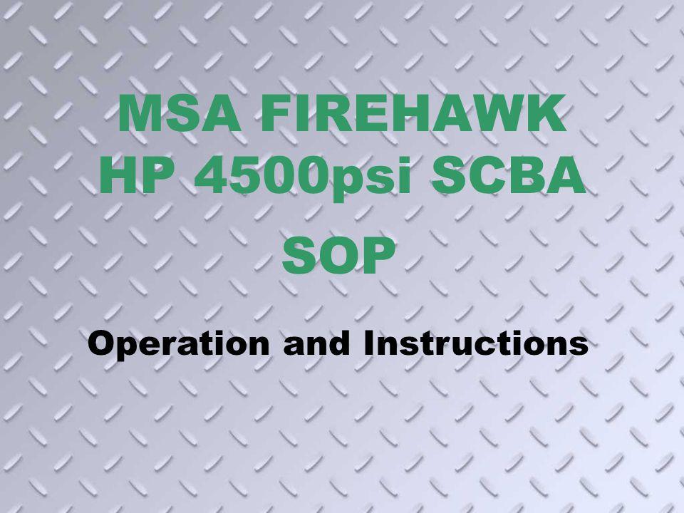 MSA FIREHAWK HP 4500psi SCBA