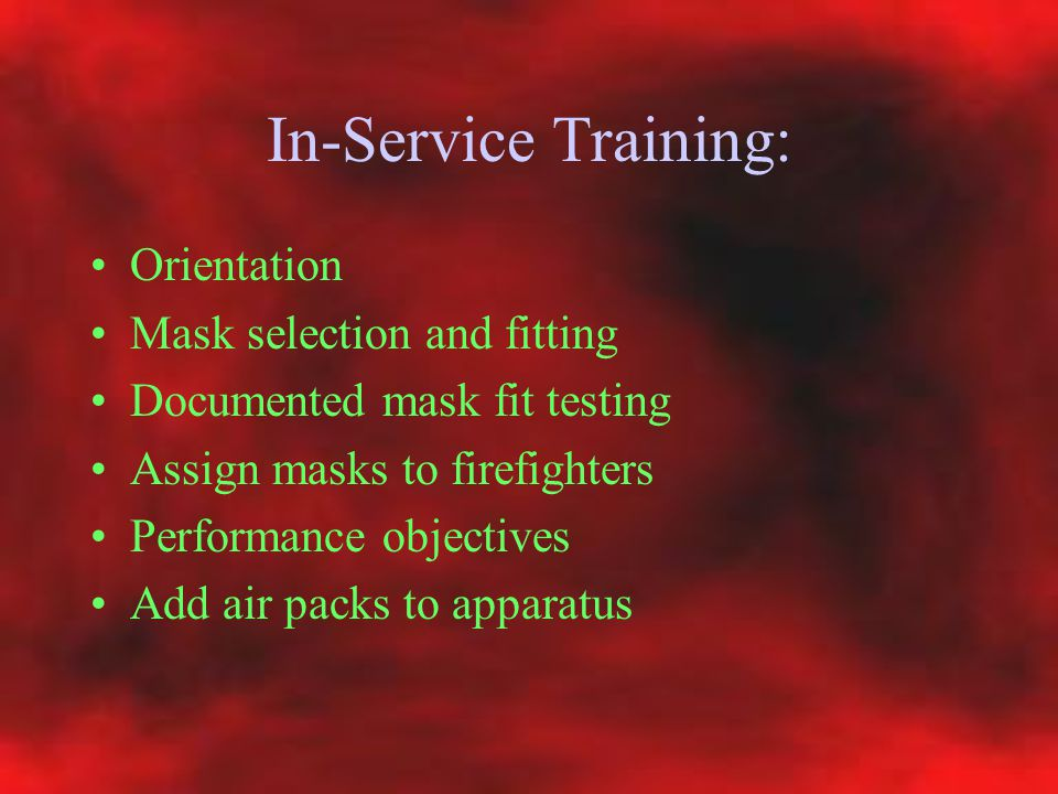 In-Service Training: Orientation Mask selection and fitting