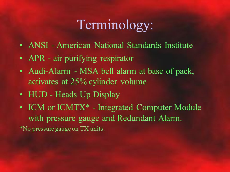 Terminology: ANSI - American National Standards Institute