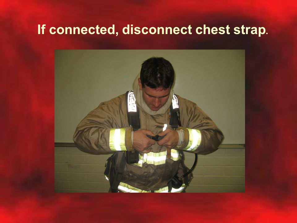 If connected, disconnect chest strap.