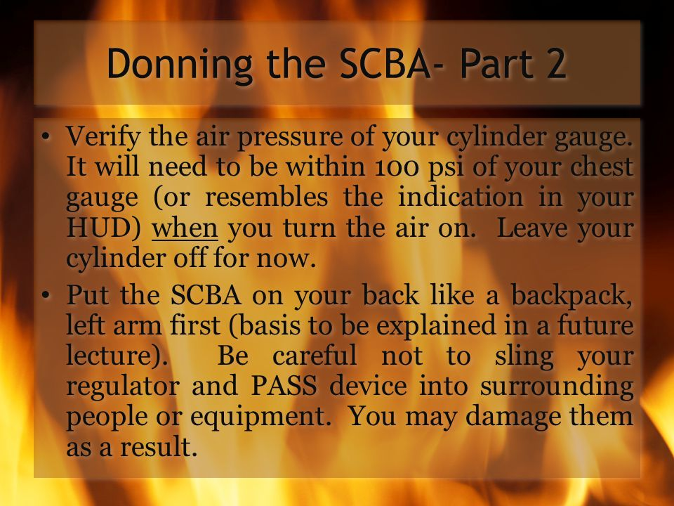 Donning the SCBA- Part 2