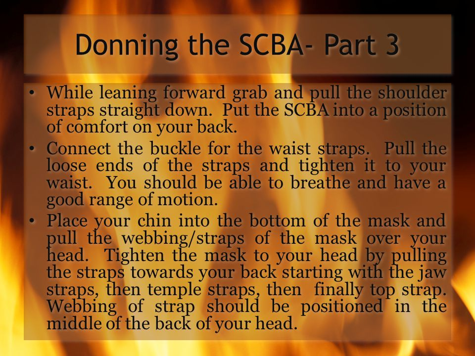Donning the SCBA- Part 3