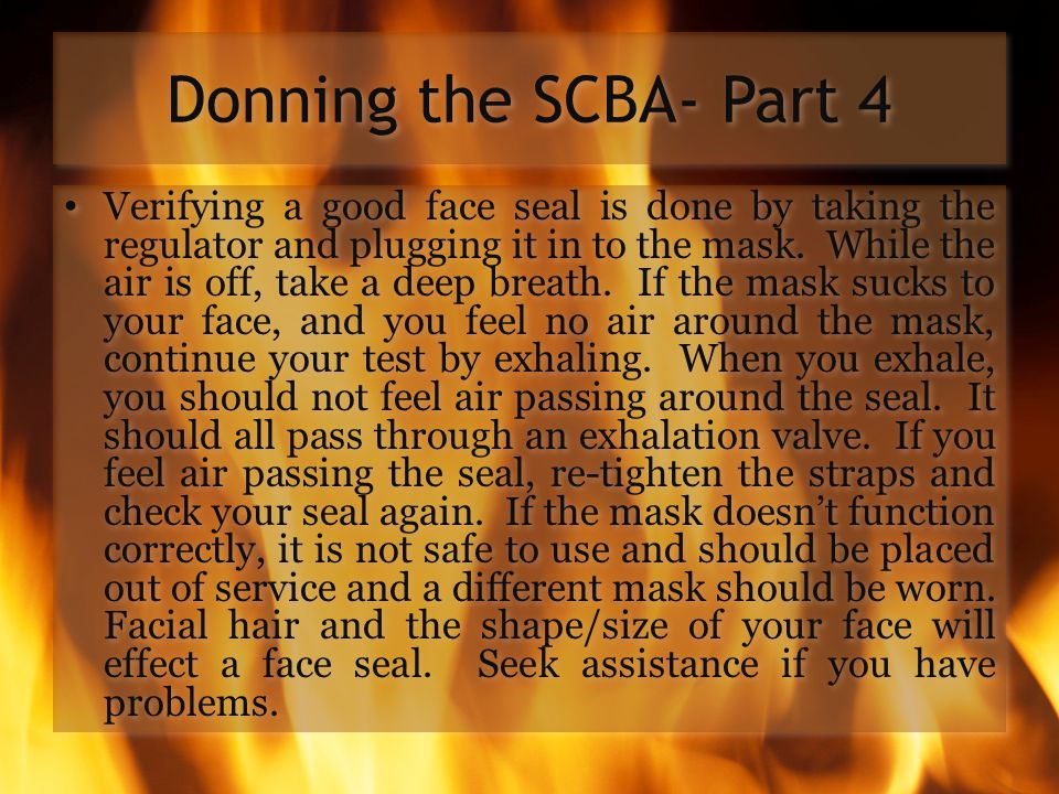 Donning the SCBA- Part 4