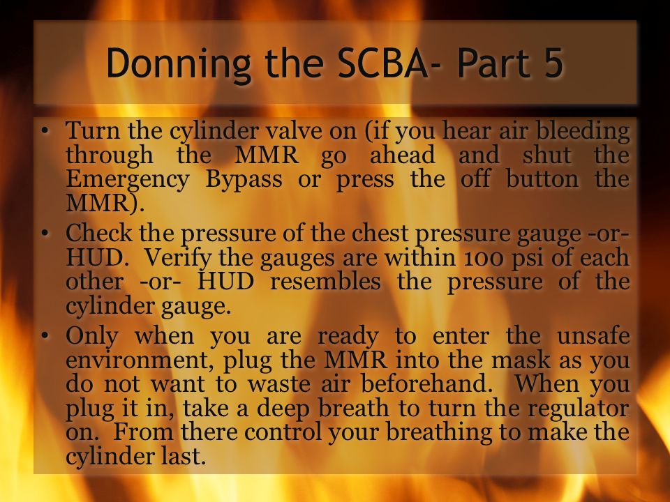 Donning the SCBA- Part 5