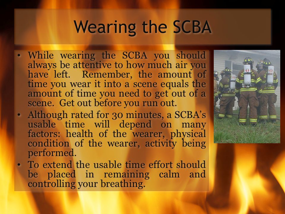 Wearing the SCBA