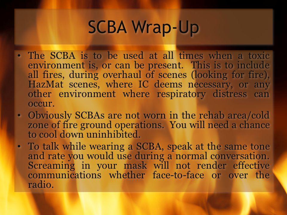 SCBA Wrap-Up