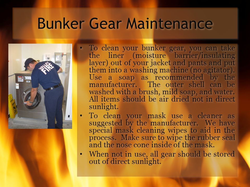 Bunker Gear Maintenance