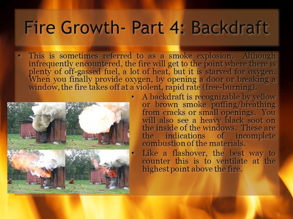 Fire Growth- Part 4: Backdraft