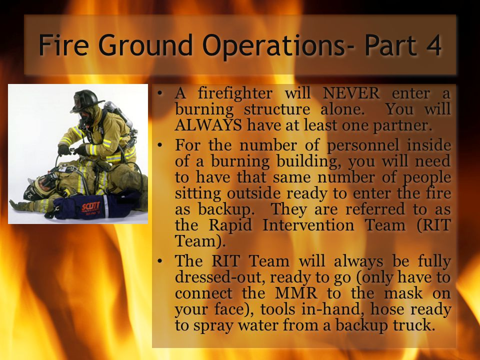Fire Ground Operations- Part 4