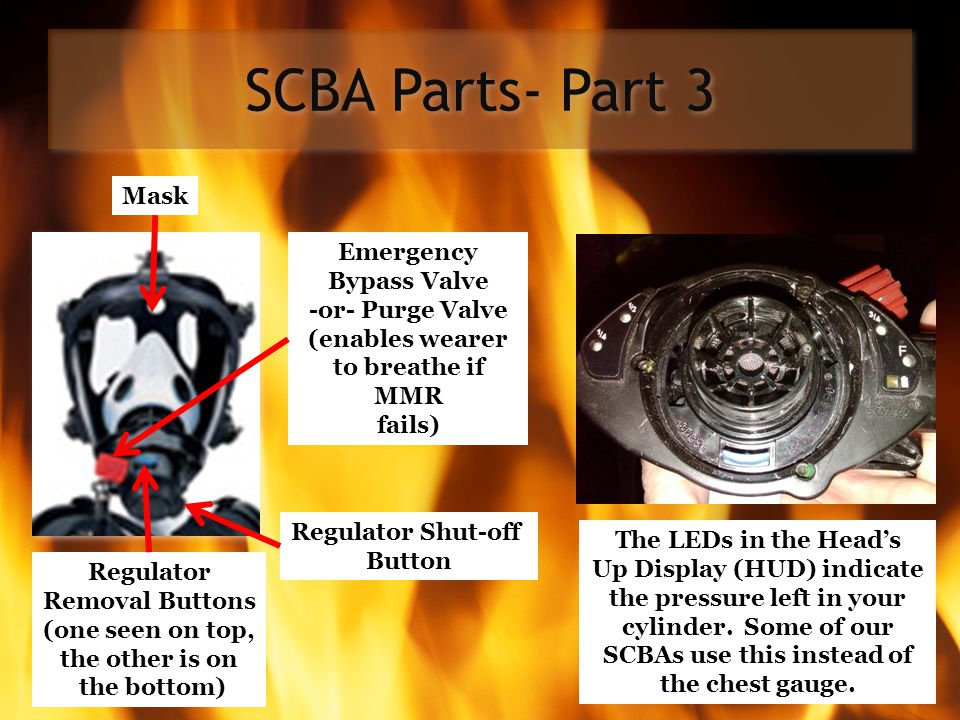 SCBA Parts- Part 3 Mask Emergency Bypass Valve
