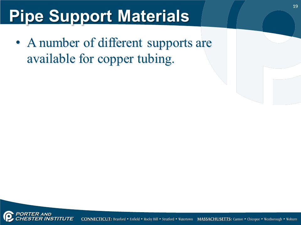 Pipe Support Materials