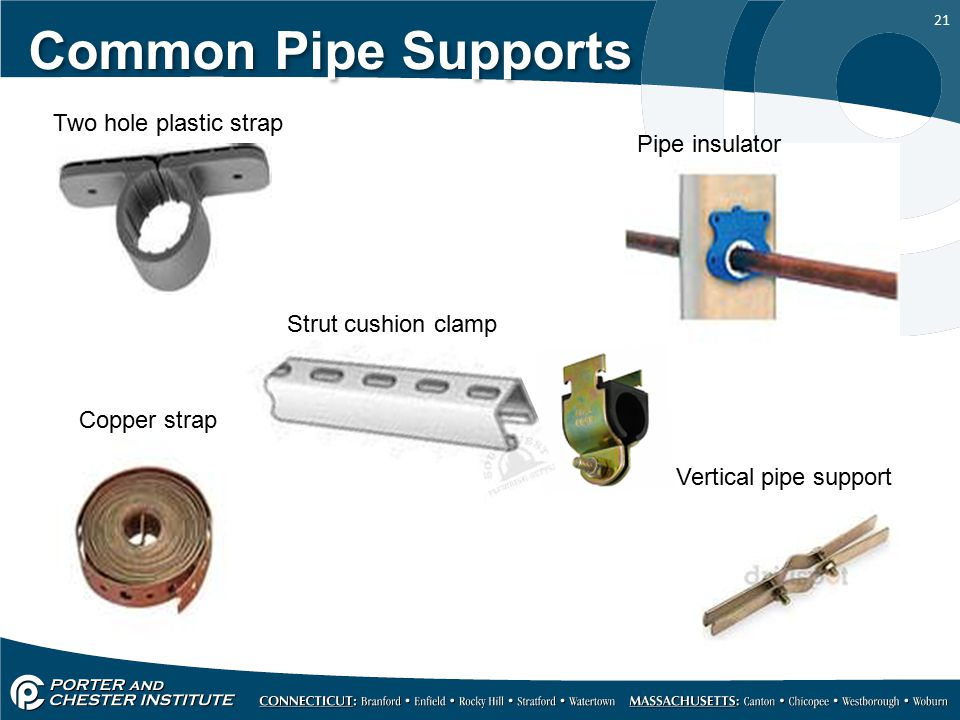 Common Pipe Supports Two hole plastic strap Pipe insulator