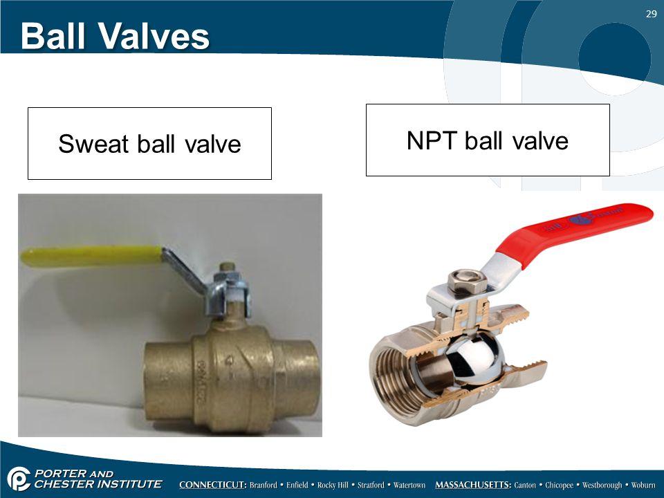 Ball Valves Sweat ball valve NPT ball valve