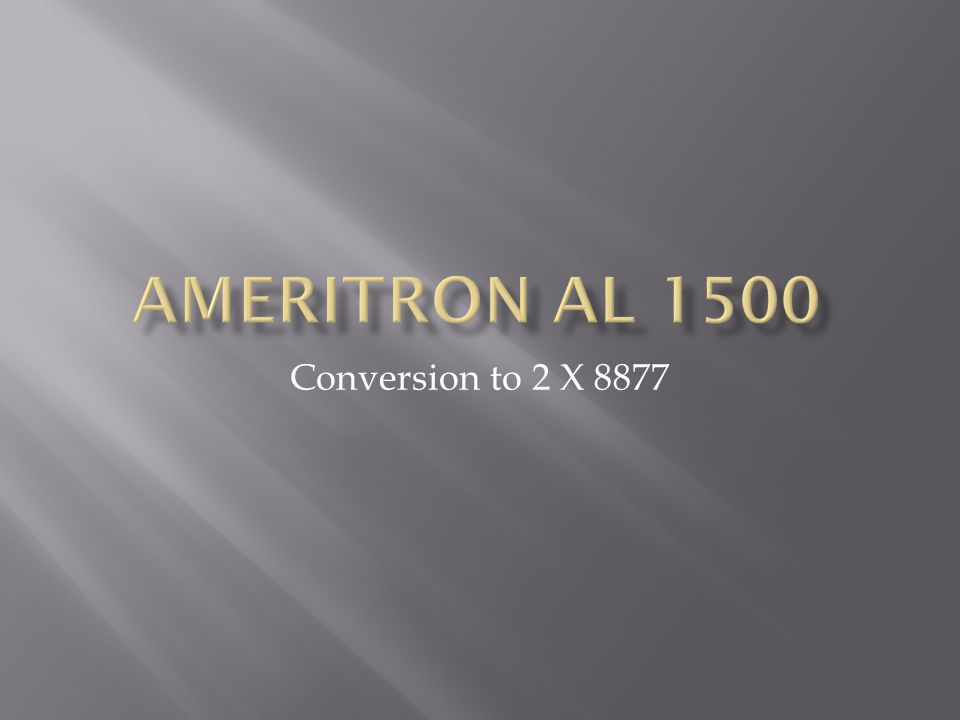 Ameritron AL 1500 Conversion to 2 X 8877