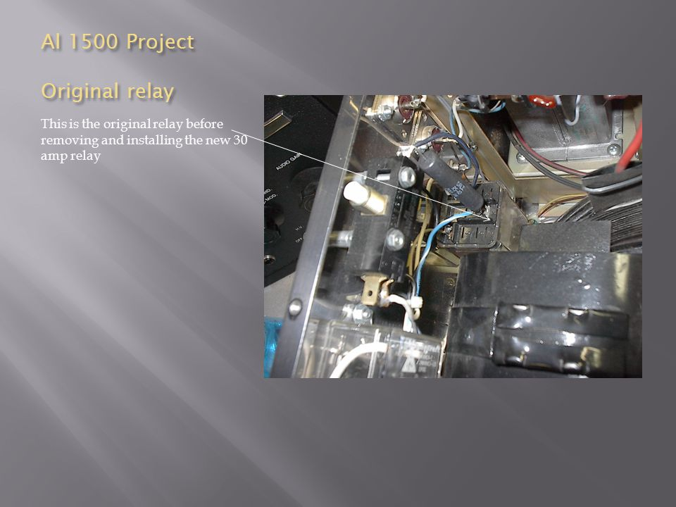 Al 1500 Project Original relay