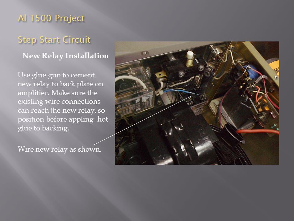 Al 1500 Project Step Start Circuit