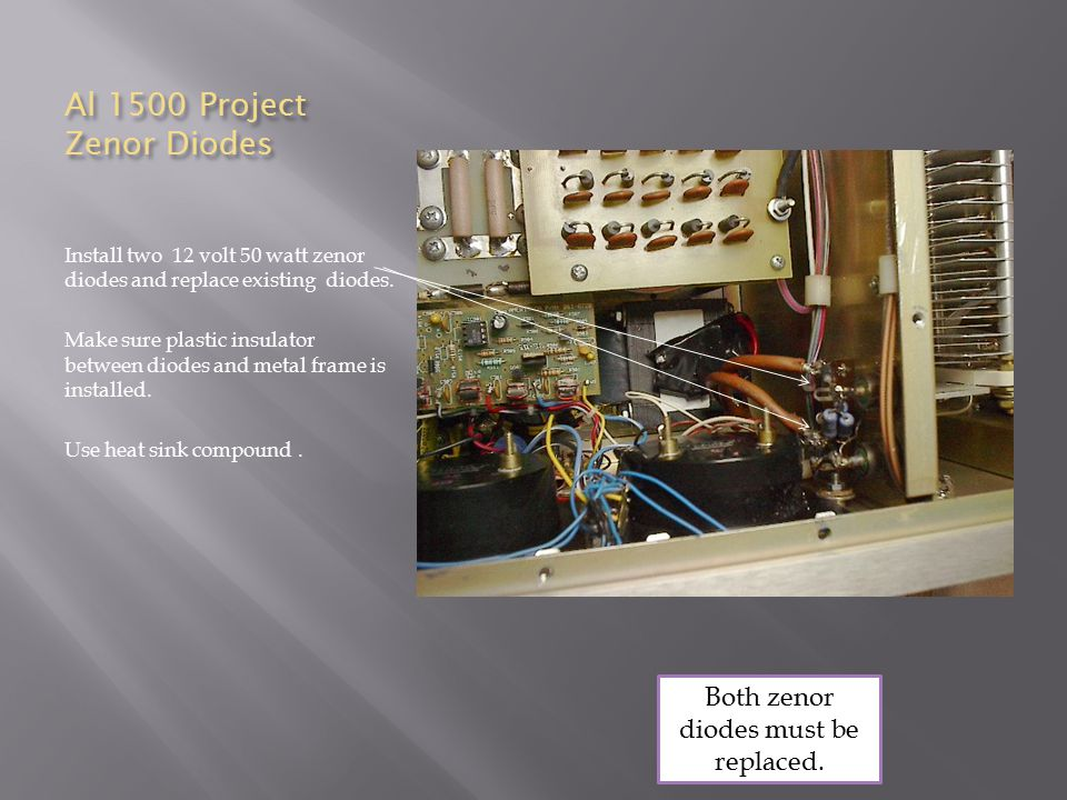 Al 1500 Project Zenor Diodes