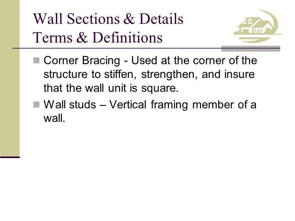wall stud framing details competency draw wall sections ppt video online download