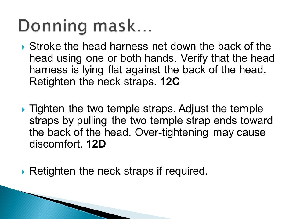 Donning mask…