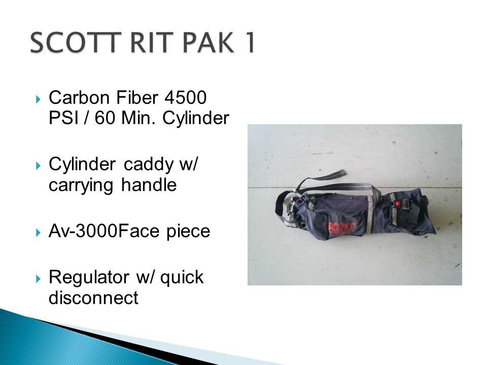 SCOTT RIT PAK 1 Carbon Fiber 4500 PSI / 60 Min. Cylinder