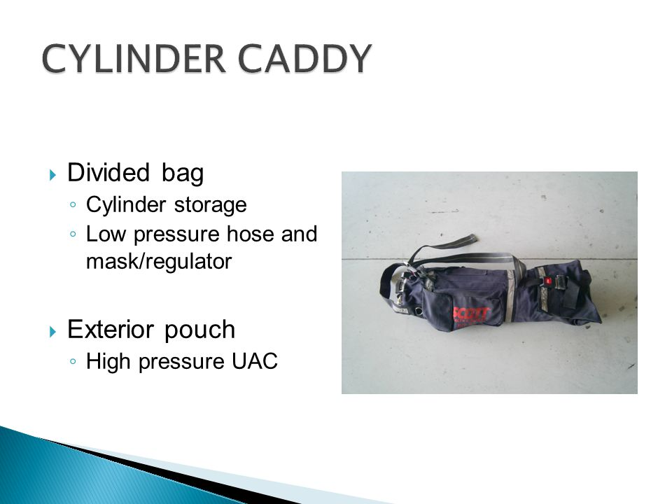 CYLINDER CADDY Divided bag Exterior pouch Cylinder storage
