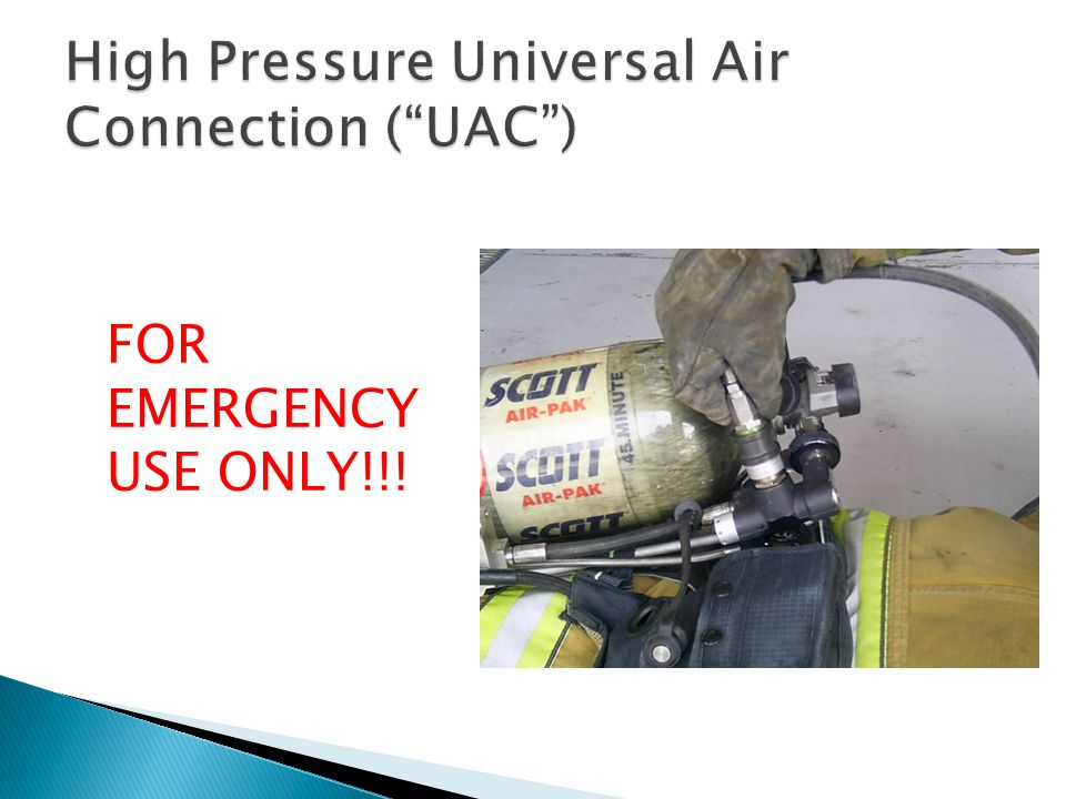 High Pressure Universal Air Connection ( UAC )