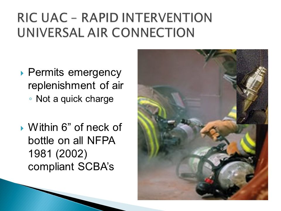 RIC UAC – RAPID INTERVENTION UNIVERSAL AIR CONNECTION