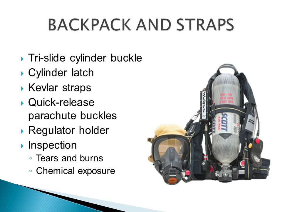 BACKPACK AND STRAPS Tri-slide cylinder buckle Cylinder latch
